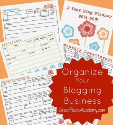 blogging Business Planner