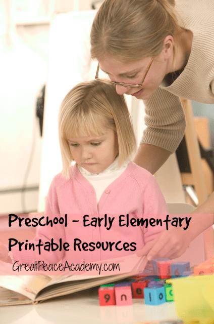 Homeschool Printable Resources