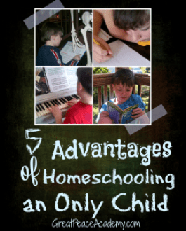 Advantages of Homeschooling an Only child