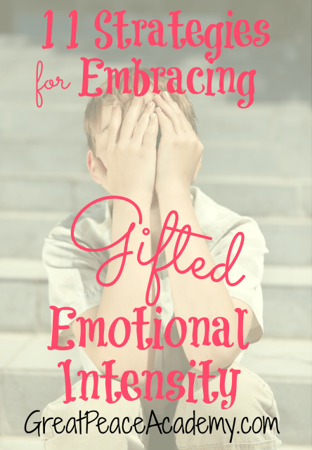 Dealing with the Emotions of Gifted Intensity in the Gifted Homeschool Child via Great Peace Academy