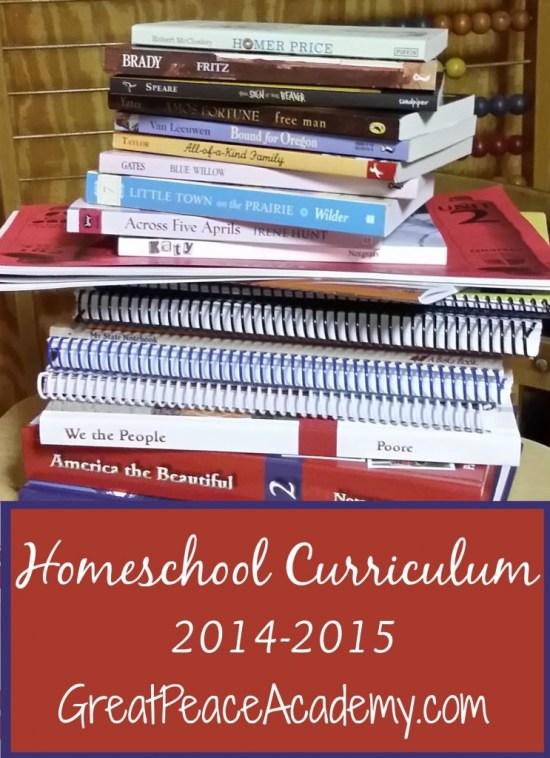 Homeschool Curriculum 2014-2015 at Great Peace Academy