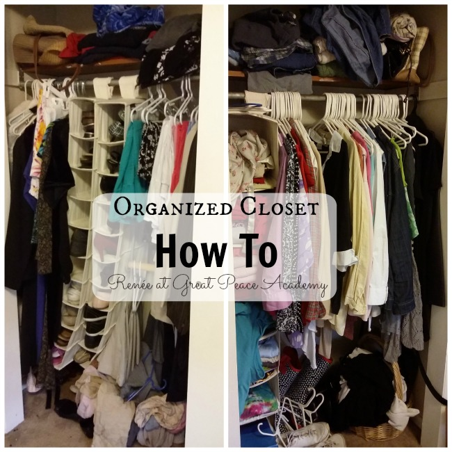 How to Organize a Closet via Renée at Great Peace Academy