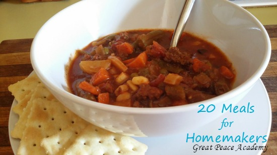 Meals for Homemakers to Make in 20 Clicks | Great Peace Academy
