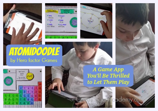 Atomidoodle Game App Review. Teach your kids the periodic table with this fun and challenging game app available for both iPad and Droid devices. | Great Peace Academy