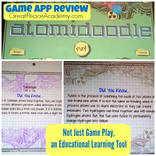 App inspires periodic table research rene at great peace atomidoodle game app review how kids can learn the periodic table in a fun game urtaz Gallery