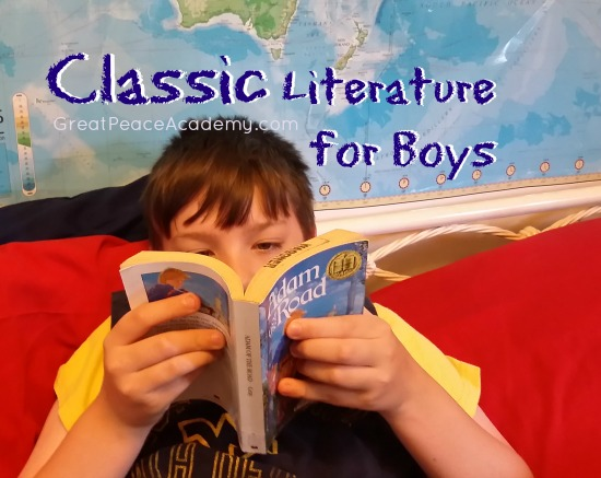 25 Books for Boys List from Great Peace Academy