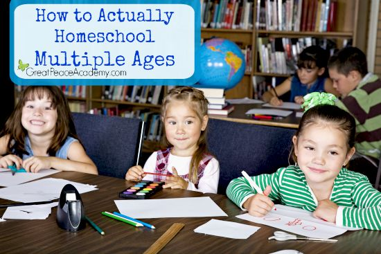 How to Actually Homeschool Multiple Ages with Expert Advice | Great Peace Academy