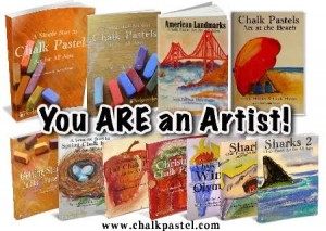Art in homeschool with You ARE an Artist Curriculum.