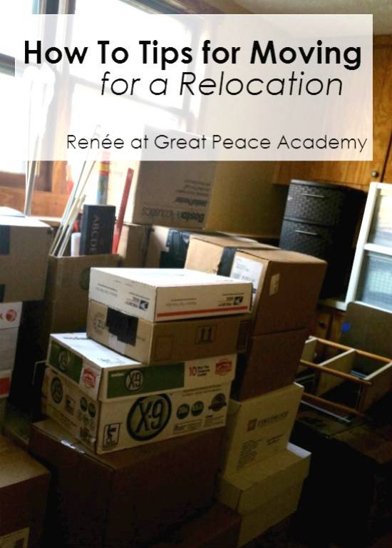 How to Tips for Packing when Moving for a Relocation | Renée at GreatPeaceAcademy