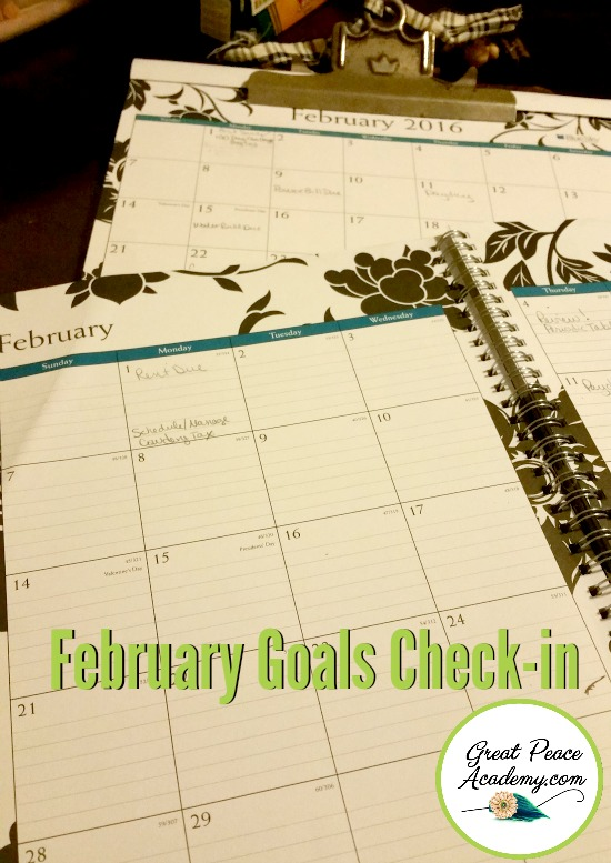 February Goals Check-In | Great Peace Academy
