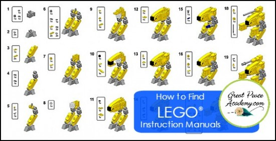 How to Find LEGO Instruction Manuals | GreatPeaceAcademy.com