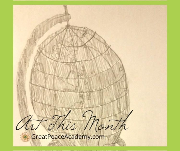 Art This Month at GreatPeaceAcademy.com #ihsnet #homeschool