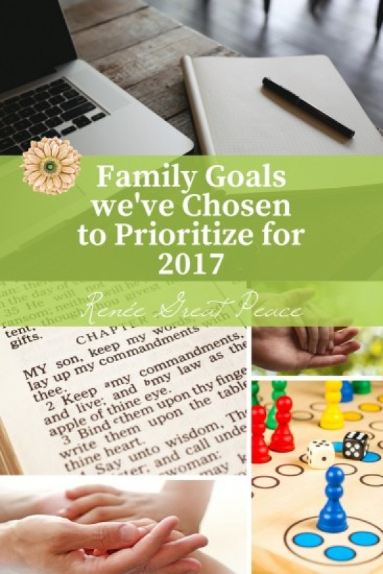 Family Goals we've Chosen to Prioritize for 2017   Renée at Great Peace
