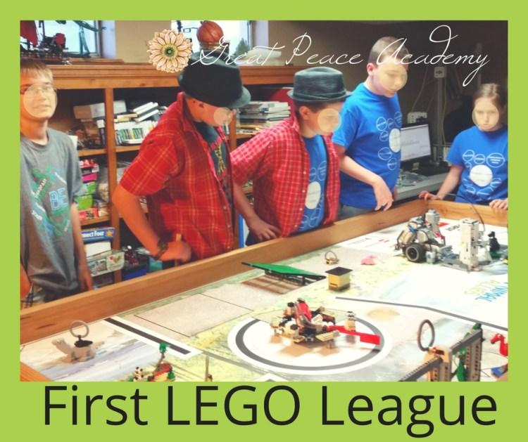 This Month First LEGO League | GreatPeaceAcademy.com #ihsnet #homeschool