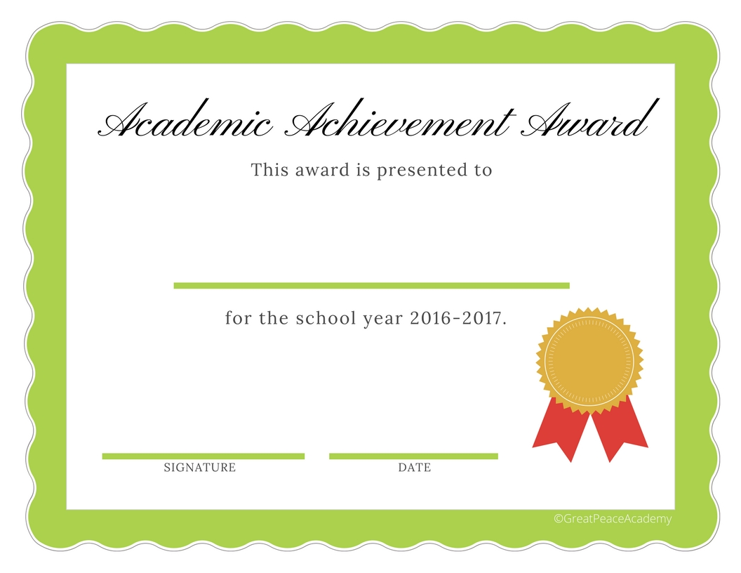 end of the year homeschool award certificates for 2016