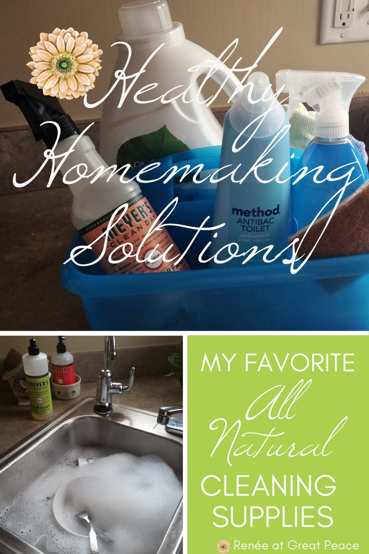 Healthy Homemaking Solutions with My Favorite All Natural Cleaning Products | Renée at Great Peace #ihsnet #homemaking #keeperathome
