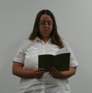 Me reading from a chapbook