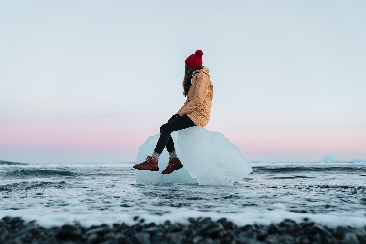 Iceland, Jokulsarlon Beach Iceberg - Renee Roaming