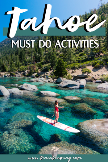 Planning a trip to Lake Tahoe? This blog post shares all the must do things on the Nevada section of Lake Tahoe as well as nearby Reno! Find out the best things to do, top outdoor activities, where to eat, recommended place to stay, and more! #Tahoe #LakeTahoe #Reno #Nevada #RenoNevada #Summer