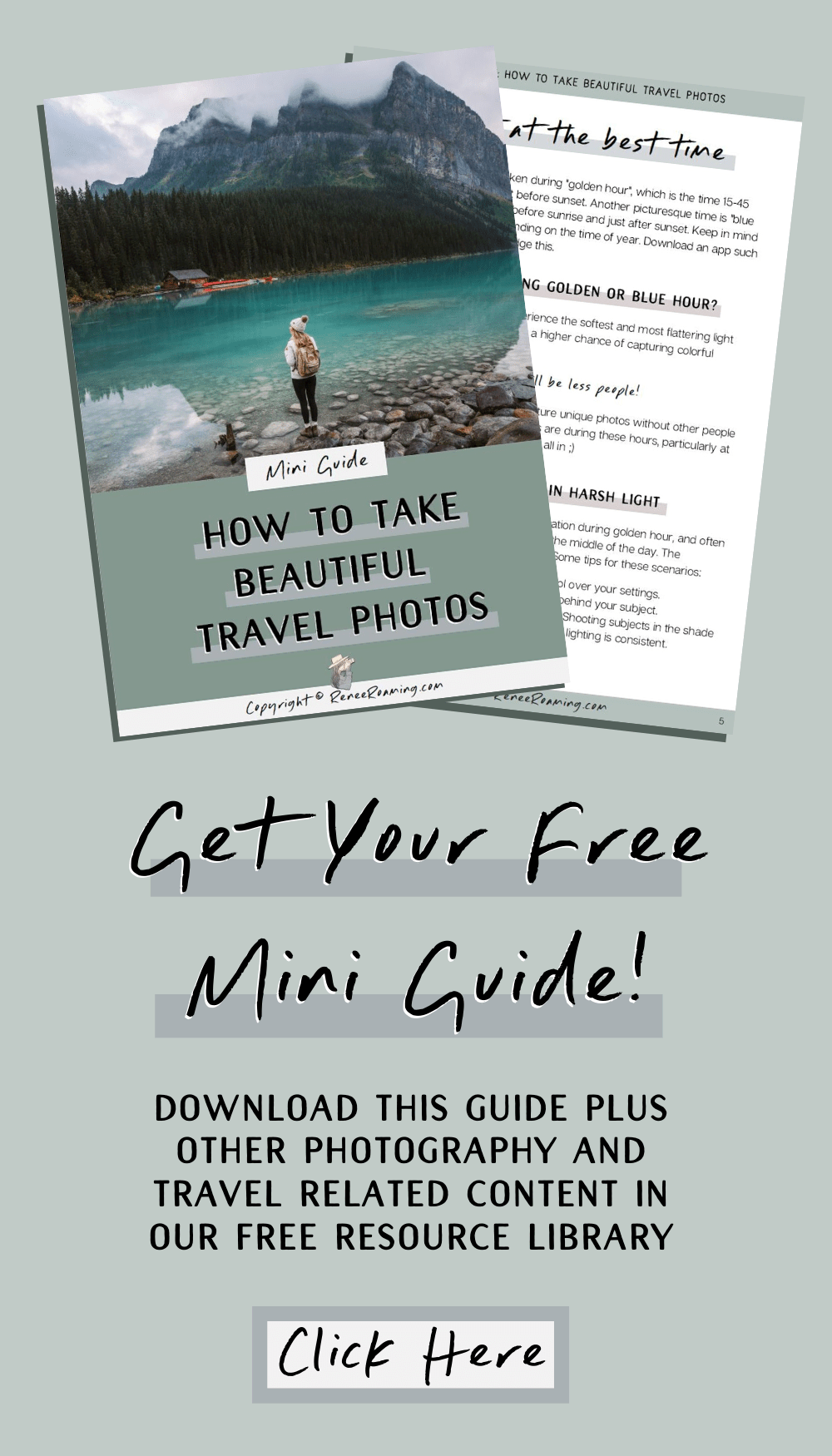 How To Take Beautiful Travel Photos - Photography Mini Guide - Renee Roaming