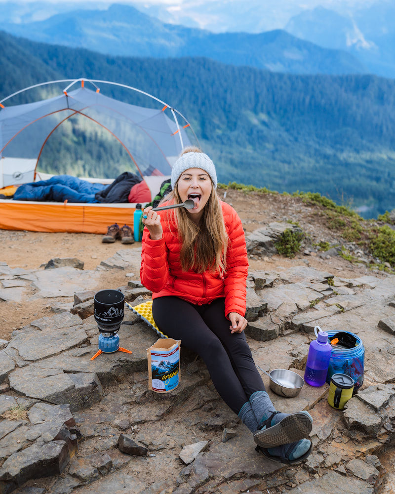How To Get Over Your Fears of First Time Backcountry Camping - Camp Food