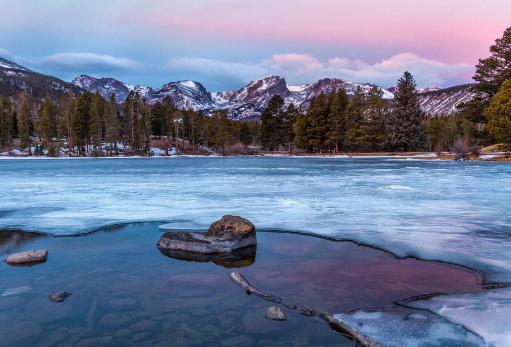 12 Best National Parks to Visit in Winter - Rocky Mountain National Park Winter Sparks Lake
