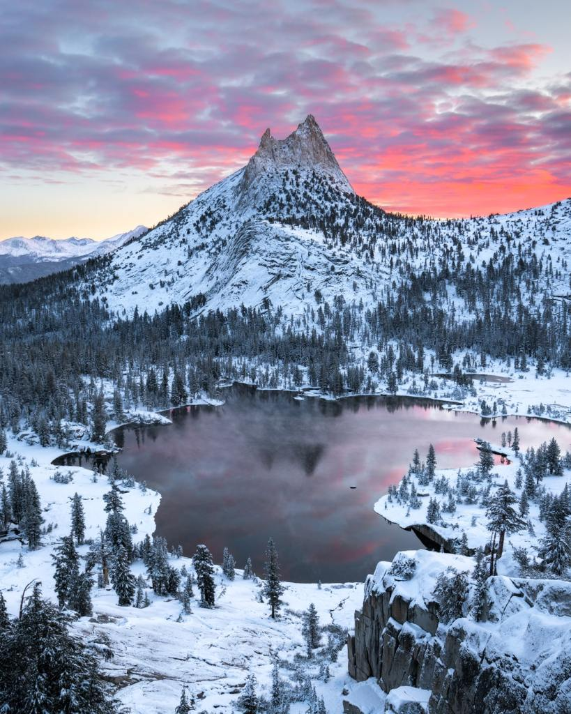 12 Best National Parks to Visit in Winter - Yosemite National Park Cathedral Lake