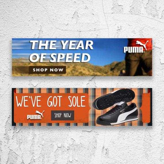 Puma Banner Ads