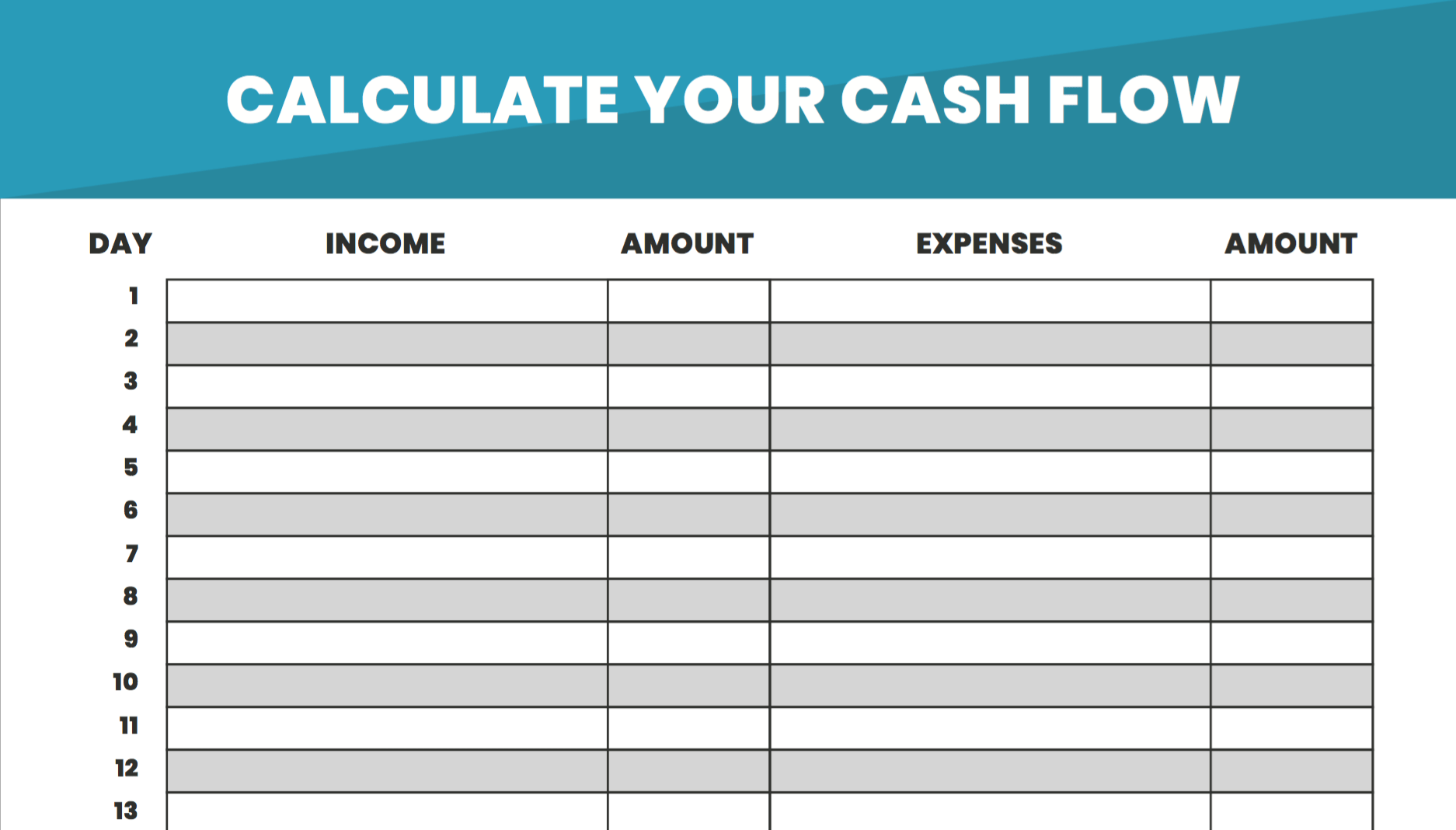 Free Download Calculate Your Cash Flow