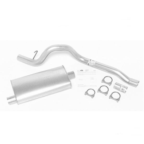 jeep cherokee xj 2 5 4 0 ltr single cat back exhaust system with super turbo muffler dynomax 87 92