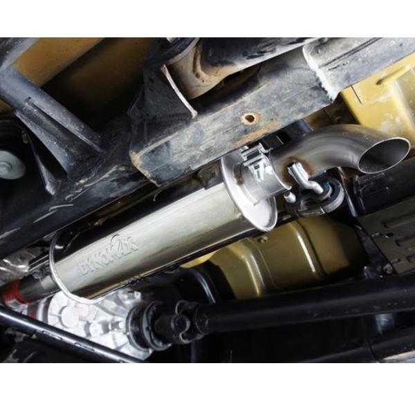 jeep wrangler jk 3 8 ltr 4 doors single cat back exhaust system with ultra flo muffler dynomax 07 11