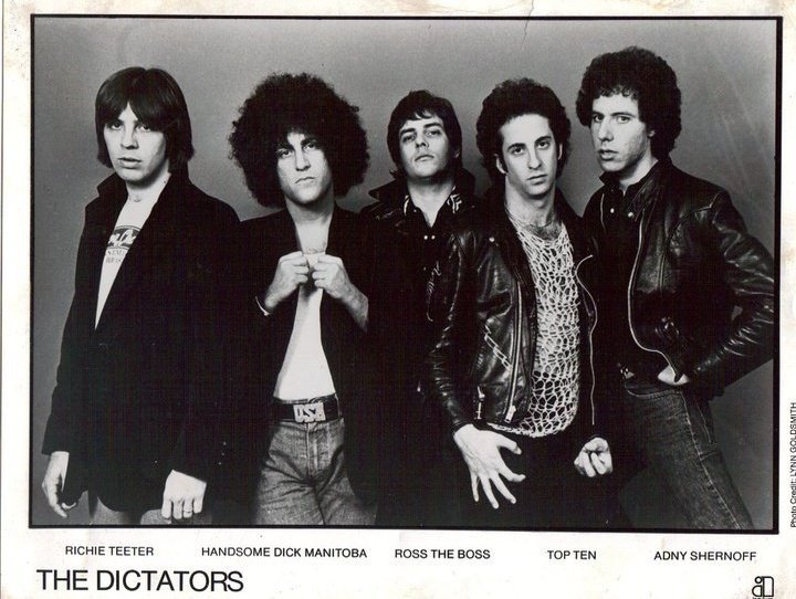 In that era most bands coming from New York had obviously many Jews in their line ups, among them I should mention The Ramones, KISS, Blue Öyster Cult, Suicide, Television, The Velvet Underground (with Lou Reed), Blondie, The New York Dolls, and The Dictators (pictured) who nowadays have achieved to be almost a 100% Kosher band.