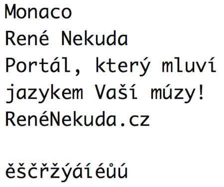 Monaco font