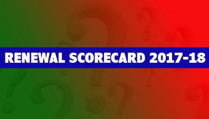 Renewal Scorecard 2017-18