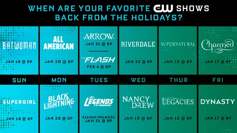 The CW 2020 return dates