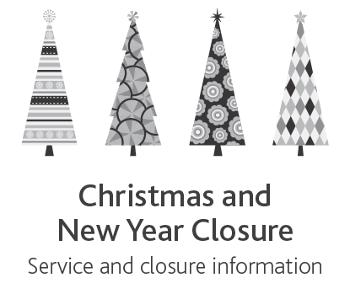 Festive closure 2018