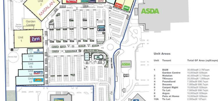 What stores are going into the new units at Phoenix Retail Park, Linwood