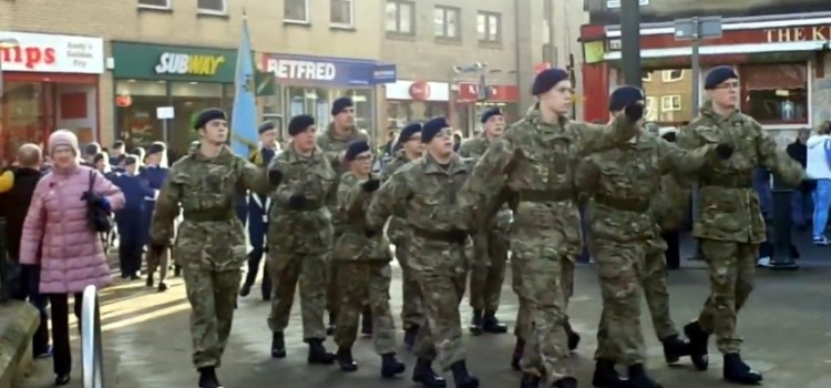 Video: Johnstone remembrance parade