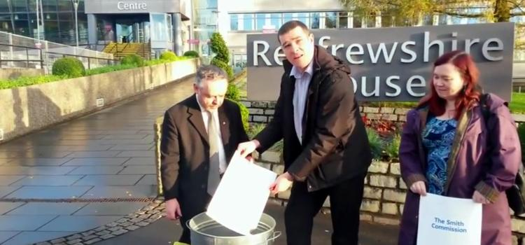 SNP suspends councillors who burned a copy of the Smith commission report
