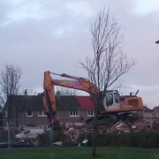 First tenement flat of 48 is knocked down in Johnstone Castle