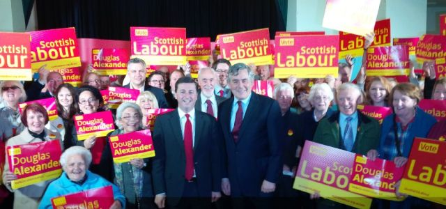 Gordon Brown makes speech in Elderslie