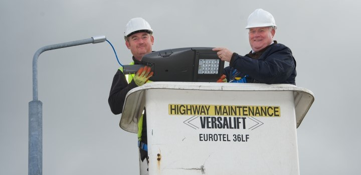 New high-tech street lighting for Erskine