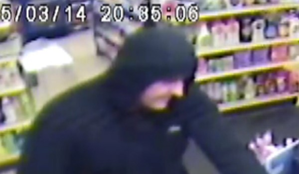 Police release images of man wanted in connection with Kilbarchan Co-op and Johnstone 101 robberies