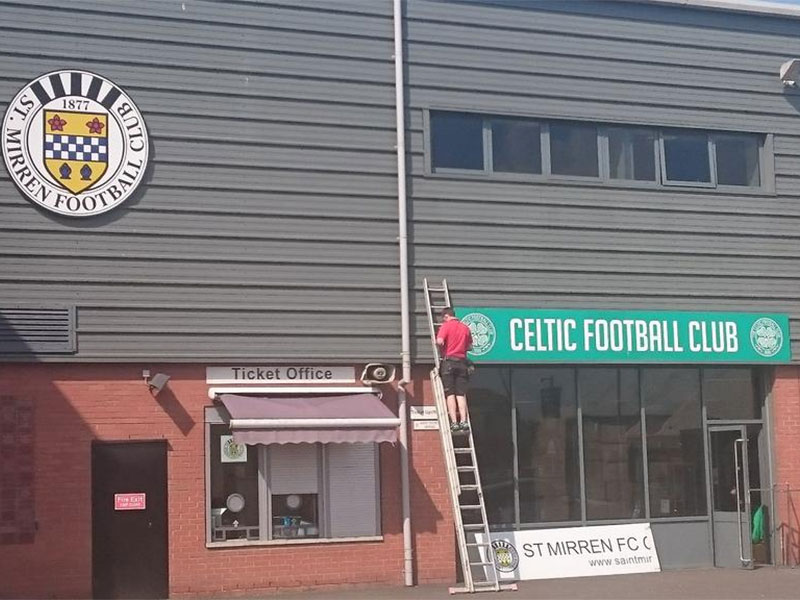 Celtic merchandise store opens up at St Mirren park