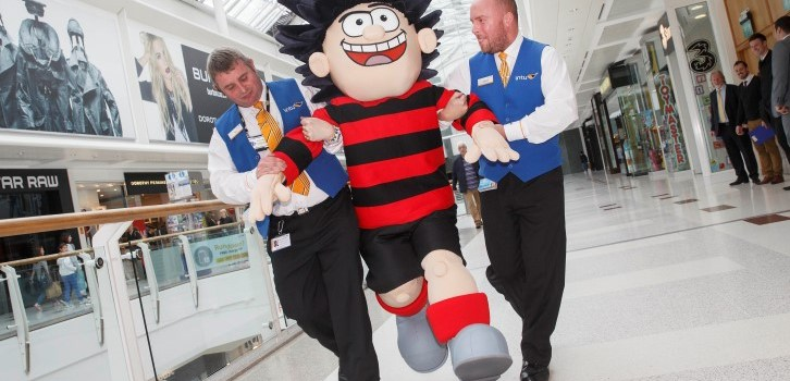 Dennis the Menace causes trouble at Into Braehead