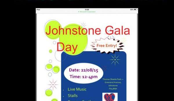 Johnstone Gala Day announced for 22nd August