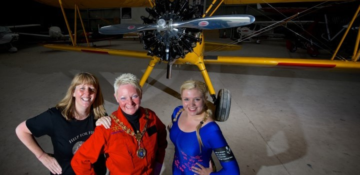 Reaching the heights for Provost's charity skydive