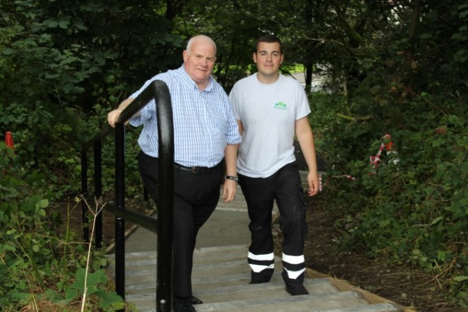 Cllr Eddie Devine with Projects Manager Jordan McPhail