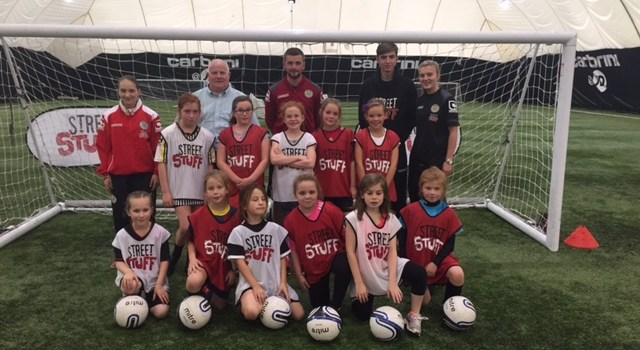 Girls score with new football programme that will help improve their skills