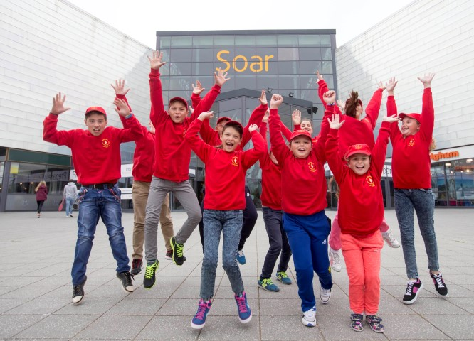 Chernobyl kids at Soar at intu Braehead and Paradise Island Adventure Golf attraction.  Photo by Jeff Holmes